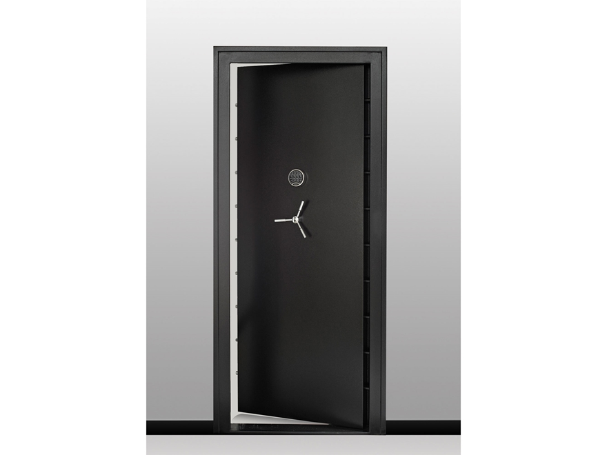 "SnapSafe Vault Door 32""x80"" Digital Lock Matte Black"