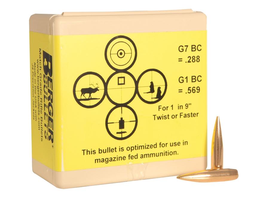 Berger Match AR Hybrid Tactical Bullets 264 Caliber, 6.5mm (264 Diameter) 130 Grain Ope...