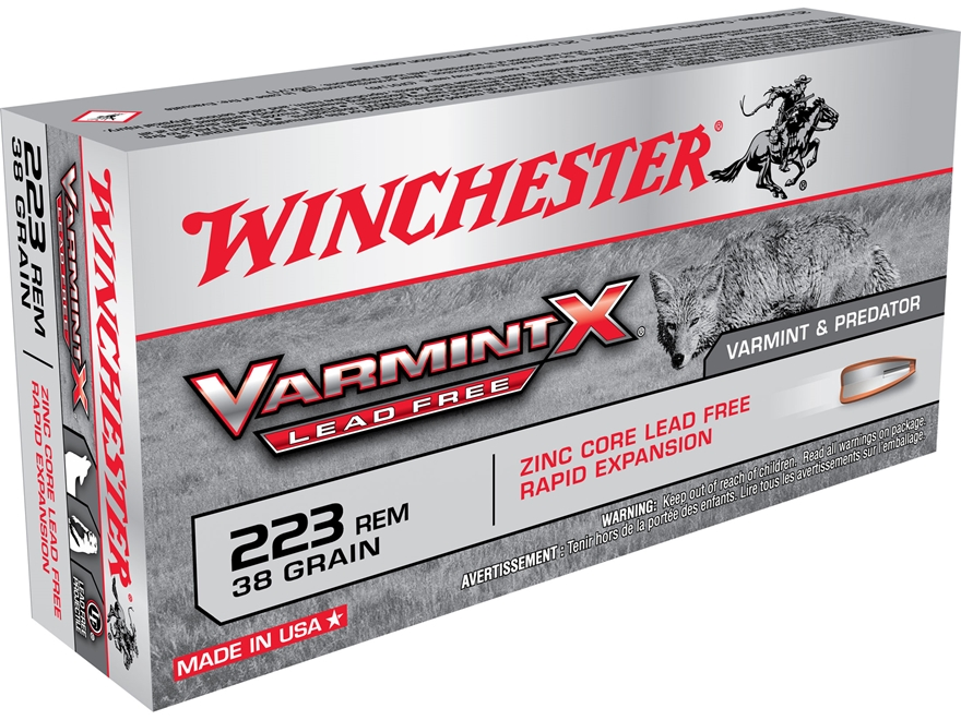 Winchester Varmint X Ammunition 223 Remington 38 Grain Hollow Point Lead-Free