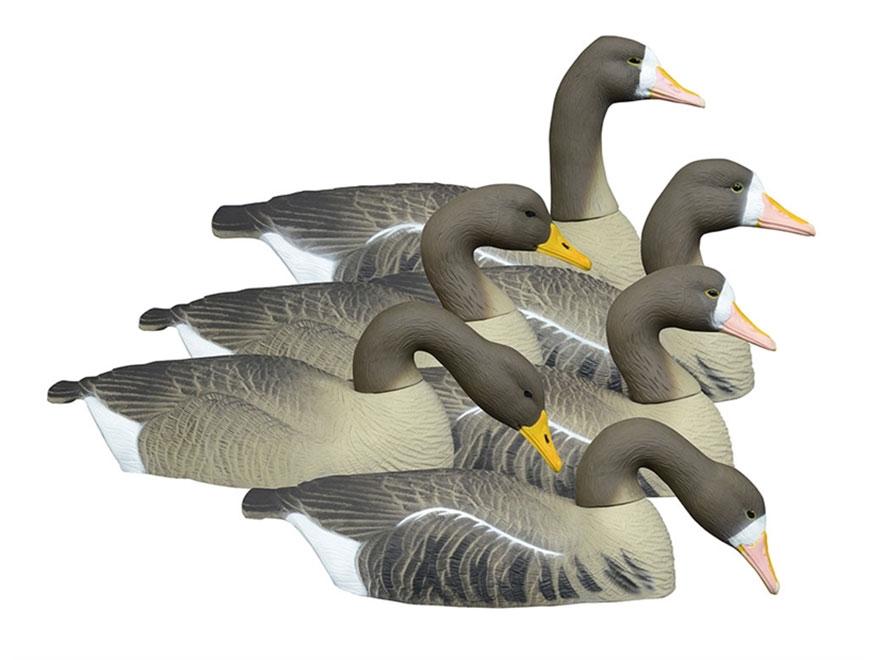 Higdon Full Size Half Shell Specklebelly Goose Decoy Polymer Pack of 6