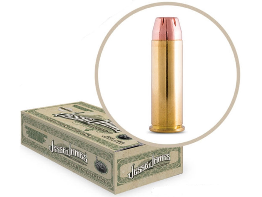 Jesse James TML Ammunition 45 Colt (Long Colt) 250 Grain Jacketed Hollow Point Box of 50