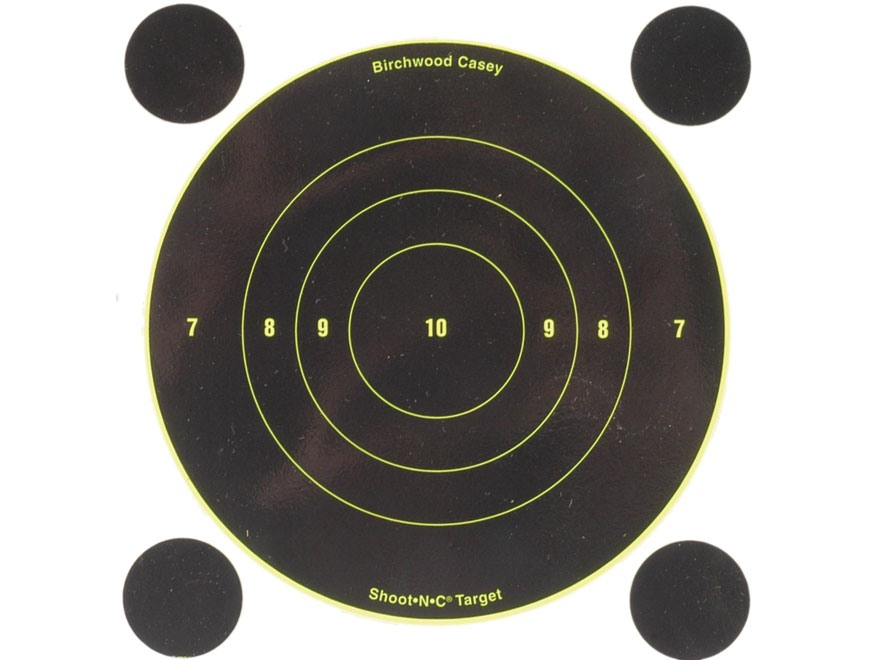 "Birchwood Casey Shoot-N-C Targets 6"" Bullseye Pack of 12 with 48 Pasters"