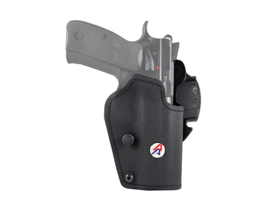 Double-Alpha PDR Belt-Ride Holster Kydex/Suede Black