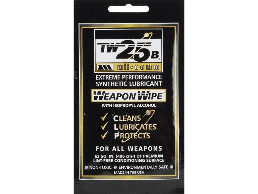 Mil-Comm TW25B Gun Grease Firearm Wipes Pack of 10