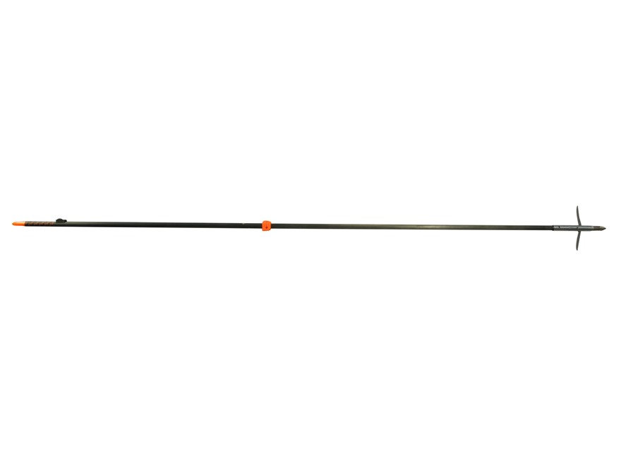 AMS Tiger Shark LGT Bowfishing Arrow with Mayhem Arrow Point White
