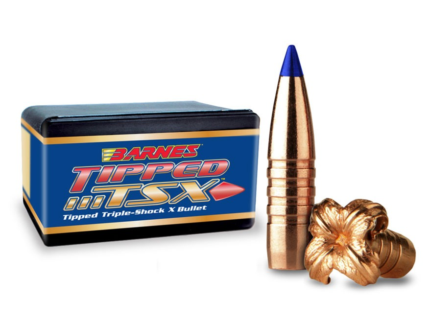 Barnes Tipped Triple-Shock X Bullets 30 Caliber (308 Diameter) 165 Grain Spitzer Boat T...