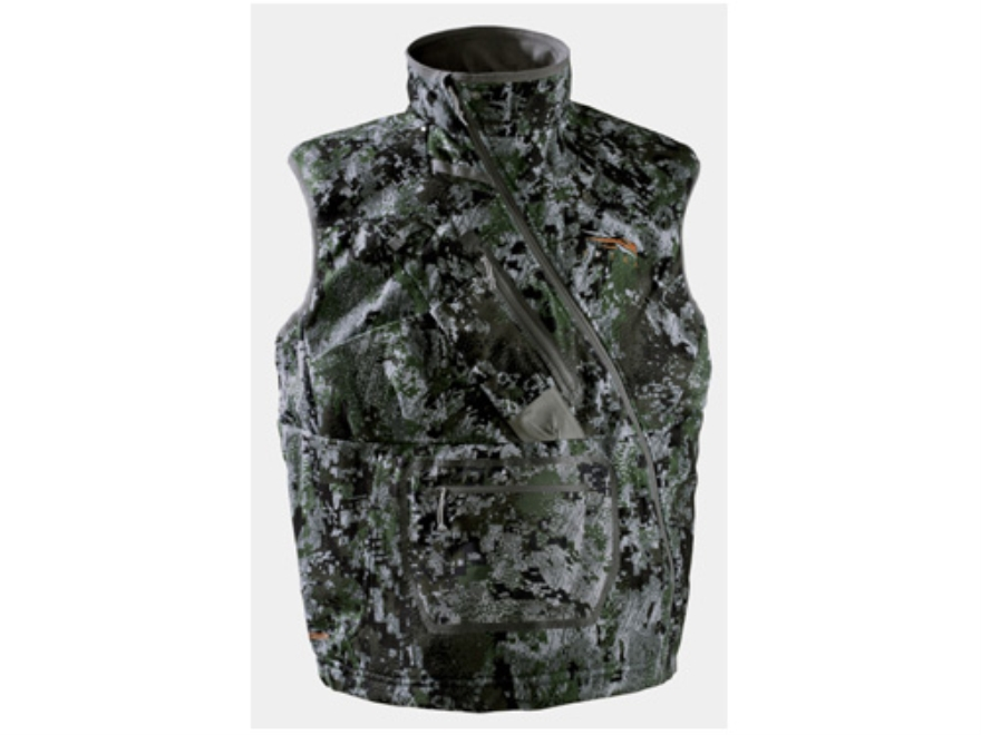 Sitka Gear Men's Fanatic Insulated Vest Polyester Gore Optifade Elevated Forest Camo La...