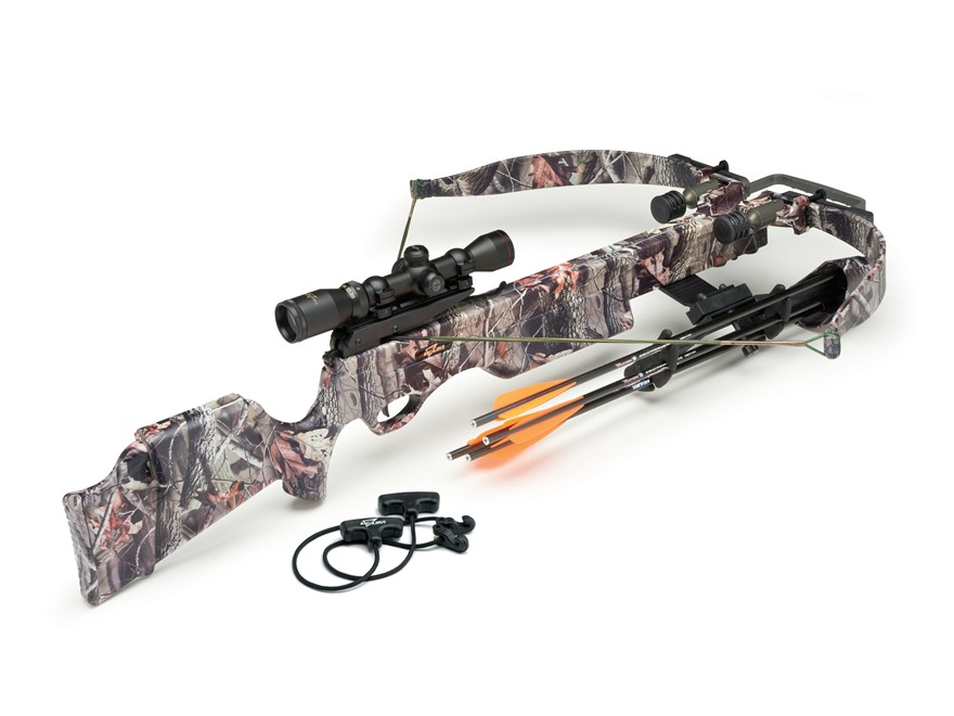 Excalibur Exomax Crossbow Package with Shadow-Zone Illuminated Scope Realtree Hardwoods...