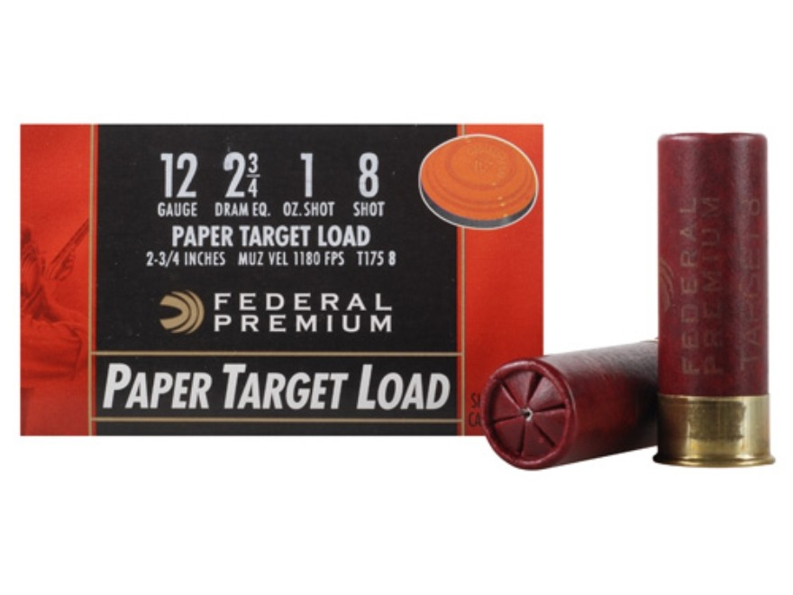 "Federal Premium Gold Medal Paper Ammunition 12 Gauge 2-3/4"" 1 oz #8 Shot Box of 25"