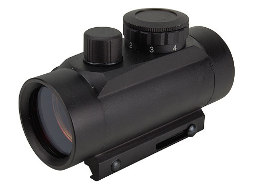 NcStar Tactical Red Dot Sight 30mm Tube 1x 3 MOA Dot with Integral Weaver-Style Mount M...