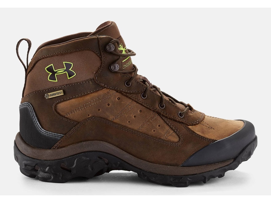 """Under Armour UA Wall Hanger 8"""" Waterproof Uninsulated Hunting Boots Leather Brown/Unifo..."""