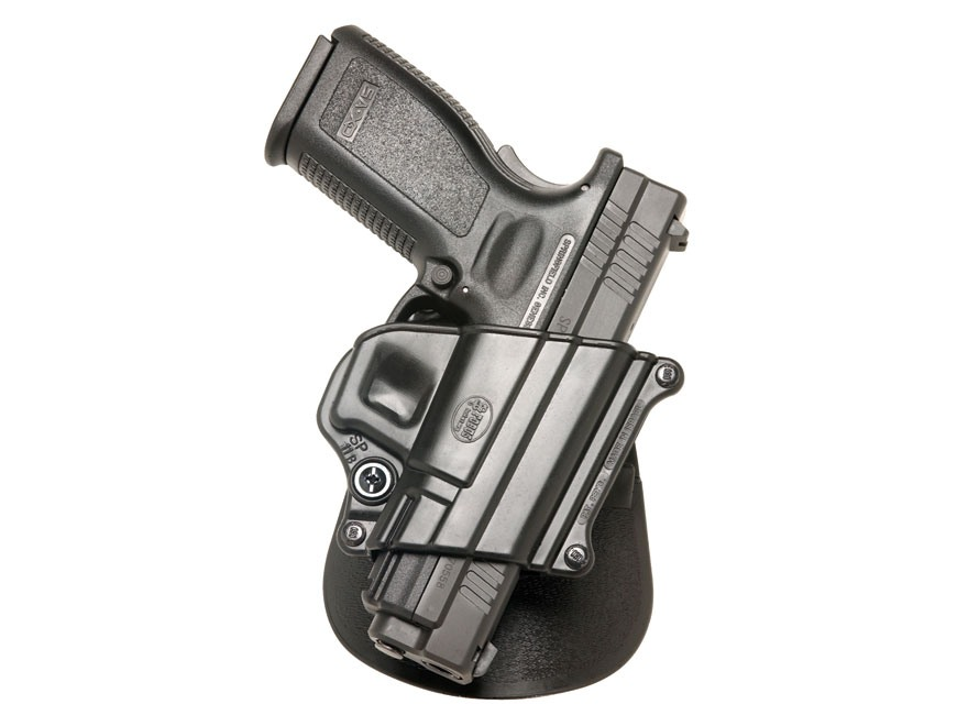 "Fobus Compact Paddle Holster Right Hand Springfield XD Sub-Compact 3"", HS2000 9mm, 357,..."
