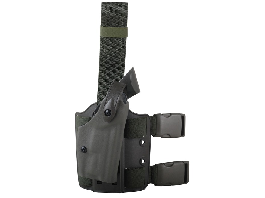 Safariland 6004 SLS Tactical Drop Leg Holster Right Hand 1911 Government Polymer