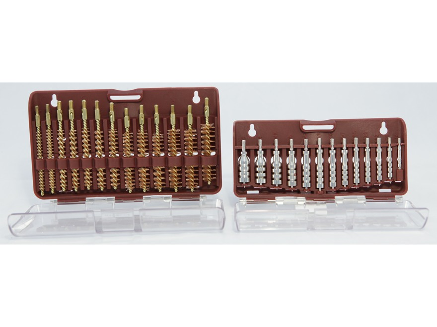Tipton Ultra Cleaning Jag and Best Bore Brush Set 26-Piece Male Thread Nickel Plated Br...