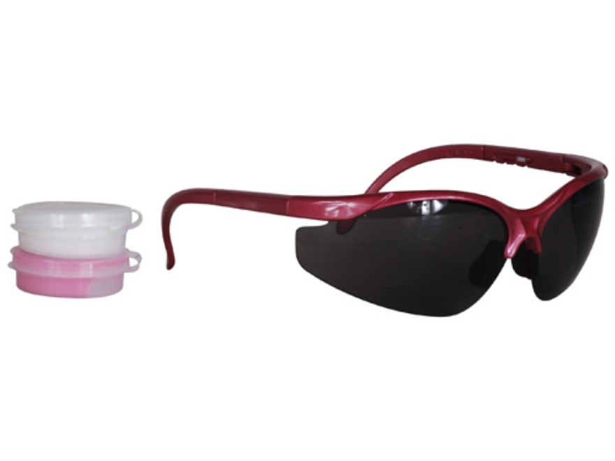 Radians Pink Shooter's Kit Smoke Lens Silver and Pink Frame with Pink Custom Molded Ear...