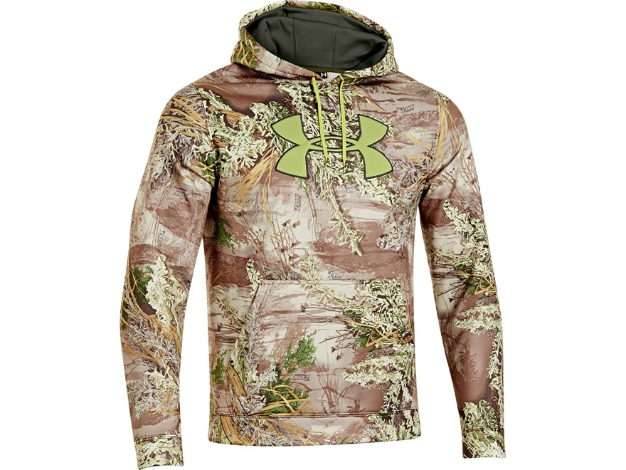 Under Armour Men's Big Logo Hooded Sweatshirt Polyester Realtree Max-1 Camo Medium 38-40