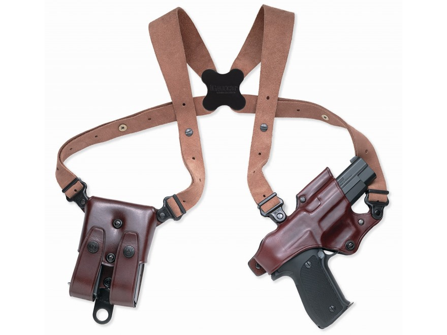 Galco Jackass Rig Shoulder Holster System Right Hand Glock 20, 21, 29, 30, 39, 41 Leath...