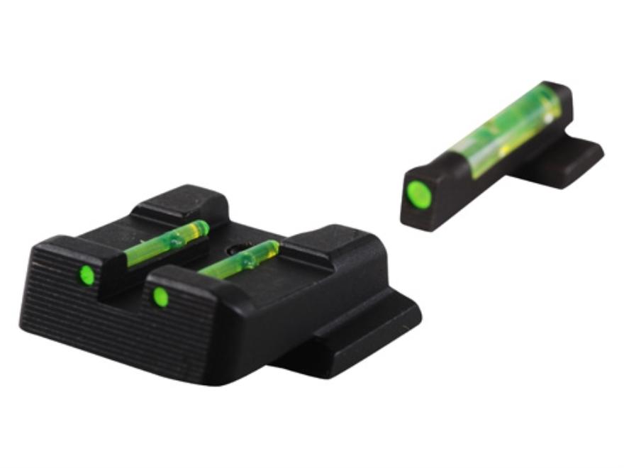 HIVIZ Sight Set S&W M&P, M&P Compact Steel Fiber Optic Green