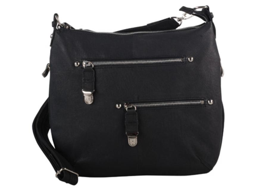 Gun Tote'N Mamas Chrome Zip Handbag Leather