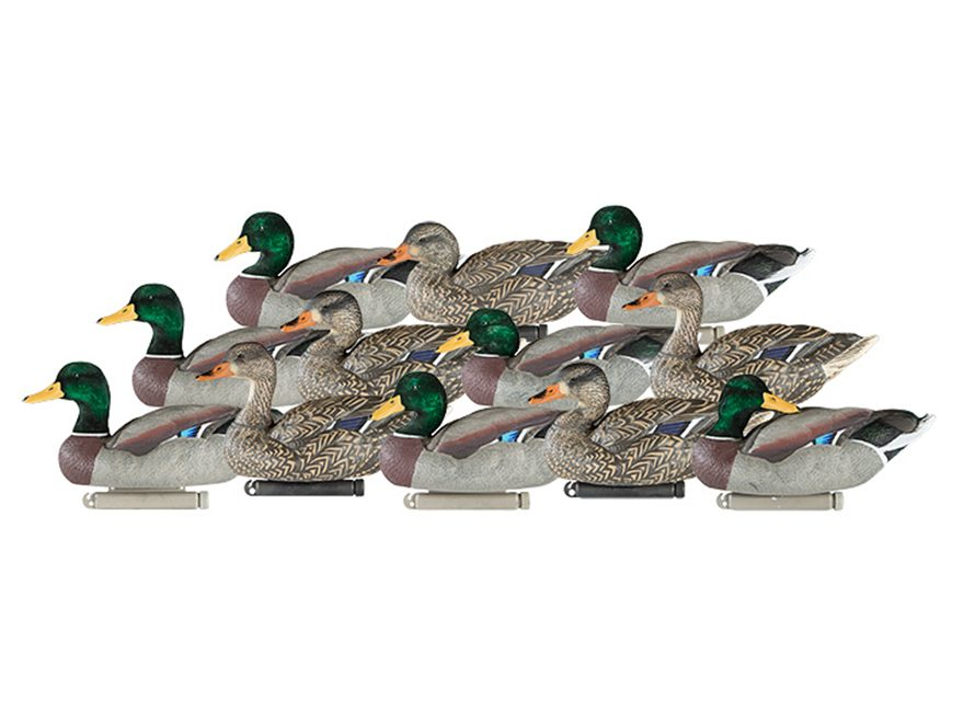 Dakota Decoy X-Treme Weighted Keel Mallard Duck Decoys Pack of 12