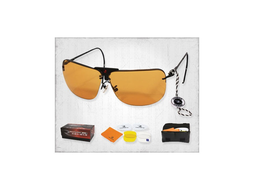 Radians RSG Interchangeable Shooting Glasses Clear, Smoke, and Amber Lenses
