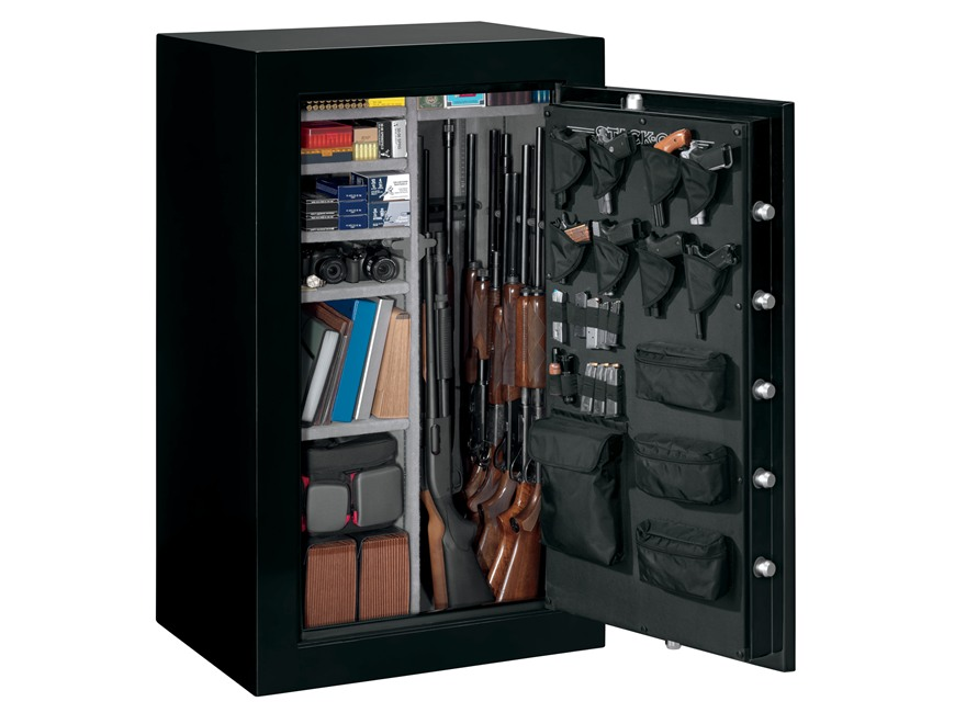 Stack-On Elite Fire-Resistant 36-Gun Safe with Electronic Lock Matte Black with Door St...