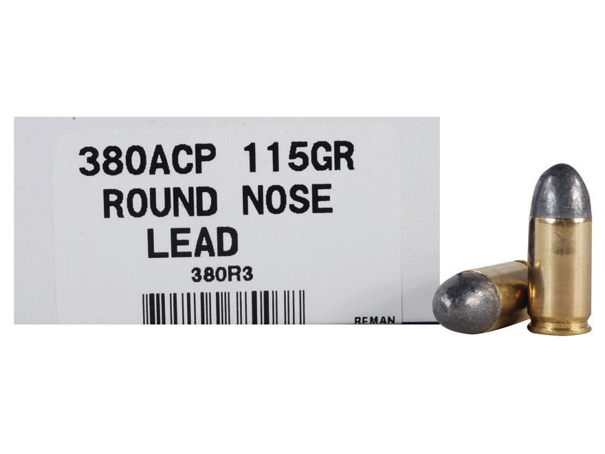 Ultramax Remanufactured Ammunition 380 ACP 115 Grain Lead Round Nose Box of 50