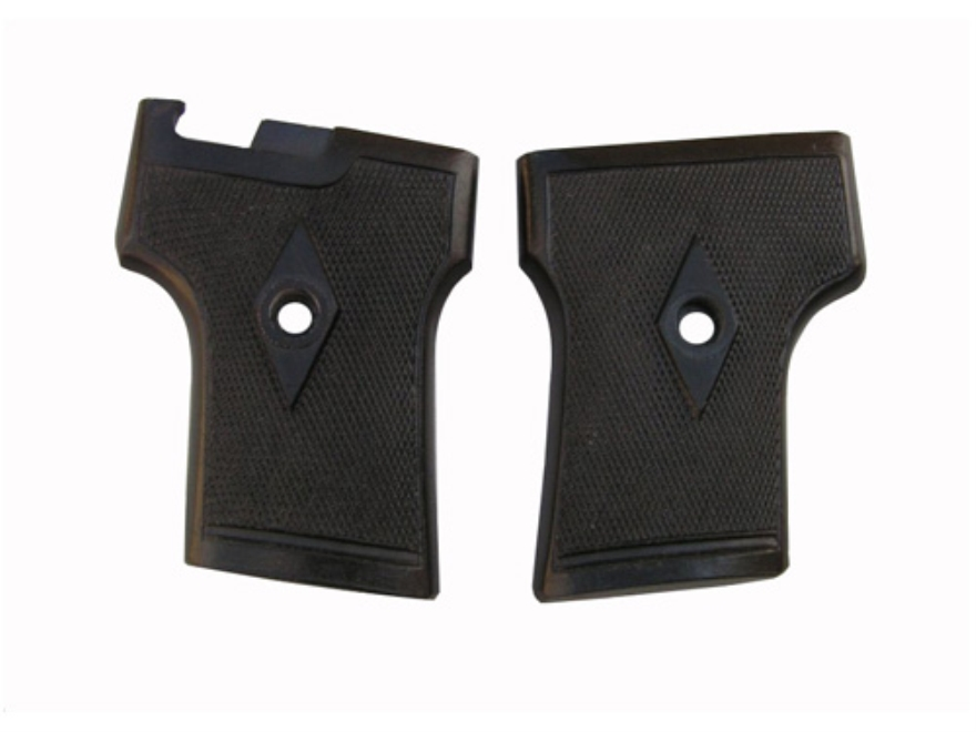 Vintage Gun Grips Webley One Screw without Escutcheon 25 ACP Polymer Black