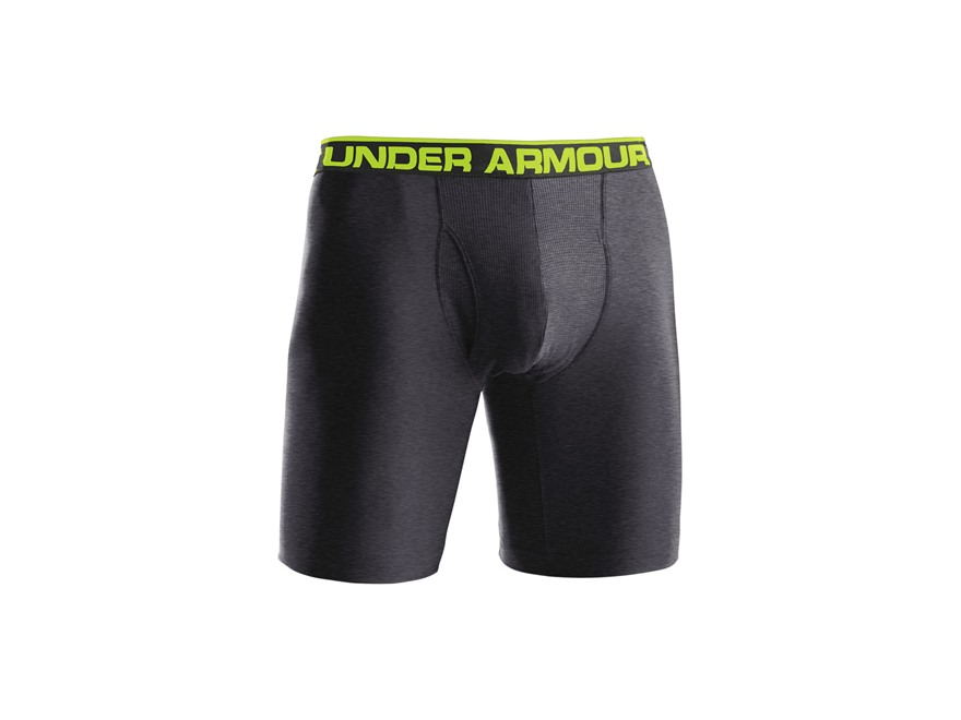 "Under Armour Men's 9"" The Original Boxerjock Underwear Synthetic Blend Carbon Heather M..."