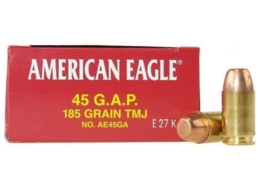 Federal American Eagle Ammunition 45 GAP 185 Grain Total Metal Jacket Box of 50