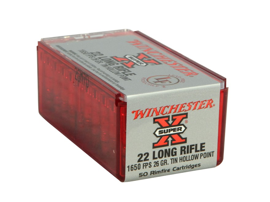 Winchester Super-X Ammunition 22 Long Rifle 26 Grain Hollow Point Lead-Free Box of 500 ...