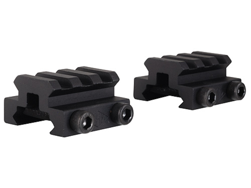"Remington Picatinny-Style Mini Riser Mount 1-1/3"" Length Aluminum Black Pack of 2"