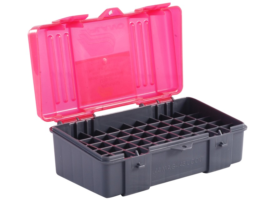Plano Ammo Box 44 Special, 44 Remington Magnum, 45 Colt 50-Round Plastic Dark Gray and ...