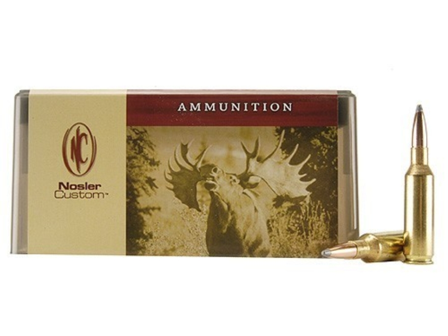 Nosler Custom Ammunition 7mm Remington Short Action Ultra Magnum 160 Grain Partition Sp...