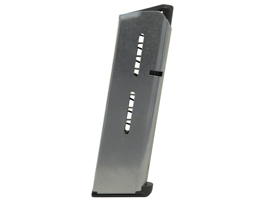 Wilson Combat Magazine with Low Profile Steel Base Pad 1911 Government, Commander 45 AC...