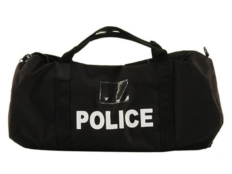 Uncle Mike's Compact Duffel Bag Police Logo Nylon Black