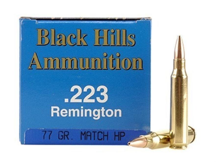 Black Hills Remanufactured Ammunition 223 Remington 77 Grain Sierra MatchKing Hollow Po...