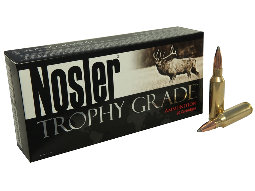 Nosler Trophy Grade Ammunition 300 Remington Short Action Ultra Magnum 165 Grain Partit...