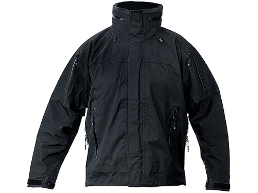 "BLACKHAWK! Warrior Wear Shell Jak Layer 3 Jacket Synthetic Blend Black Large (42"" to 44"")"