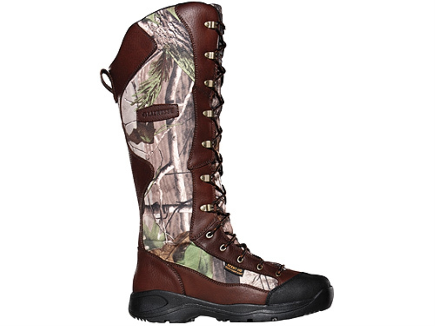 "LaCrosse Venom Scent HD 18"" Waterproof Snake Boots Leather and Nylon Brown and Realtree..."