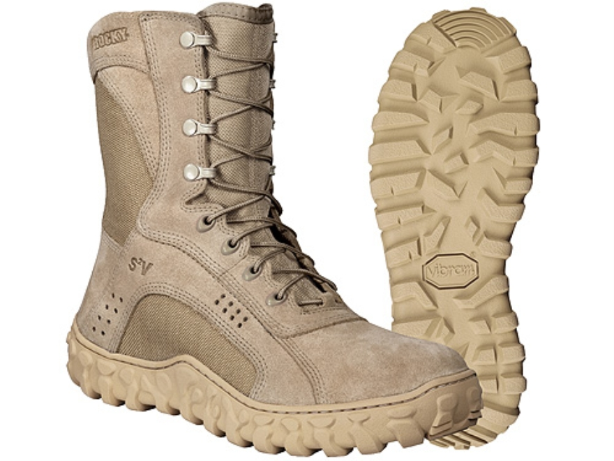 """Rocky S2V 8"""" Flash and Water-Resistant Uninsulated Boots Cordura Nylon with Leather Ins..."""