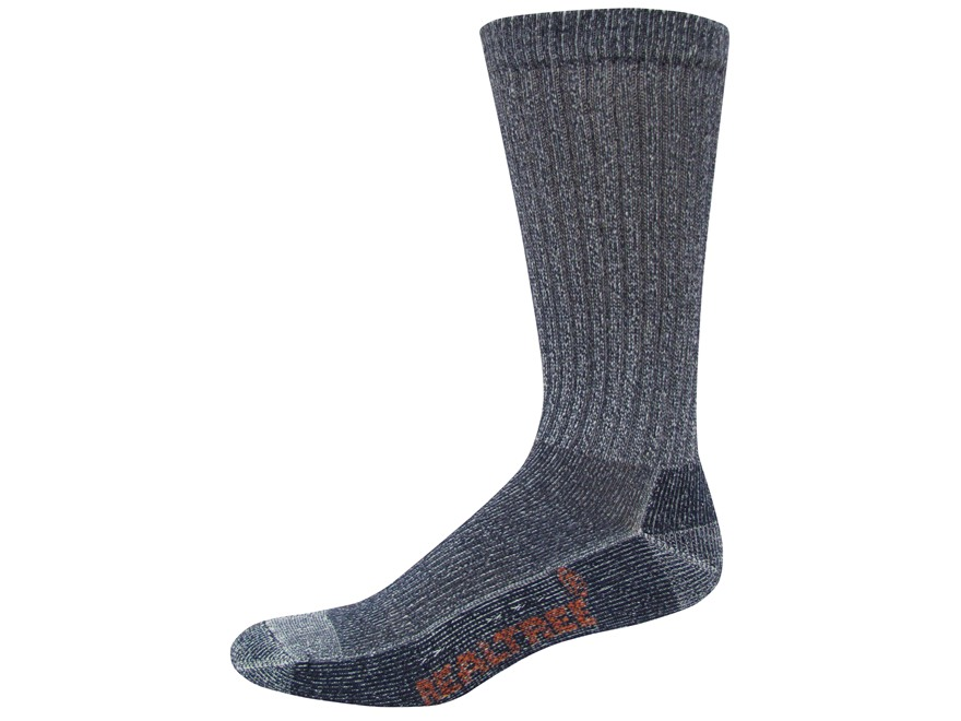 Realtree Men's Everyday Lightweight Crew Socks Cotton Blend Navy, Khaki and Black Large...