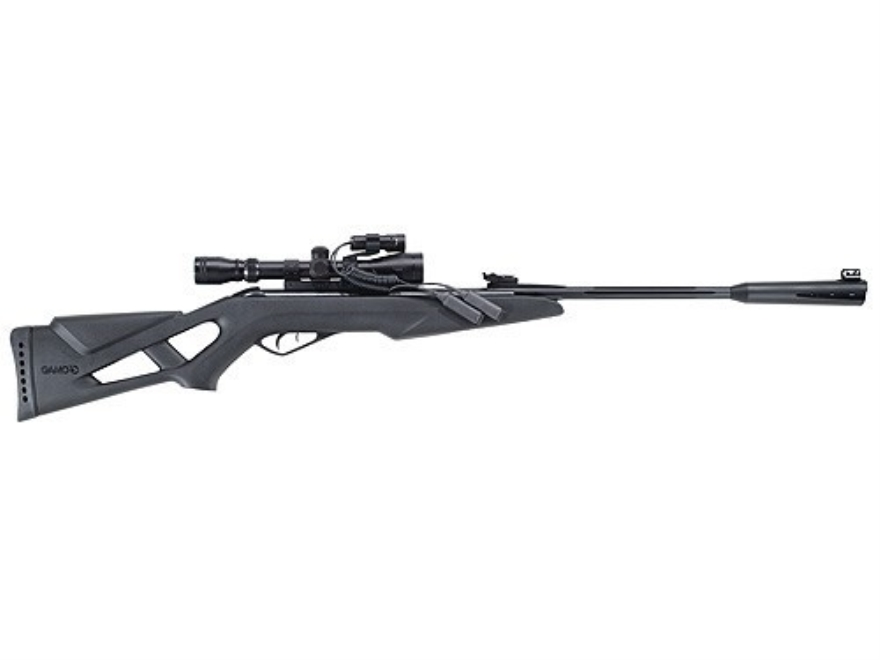 Gamo Whisper VH Air Rifle 177 Caliber Black Synthetic Stock Blue Barrel with Gamo Airgu...
