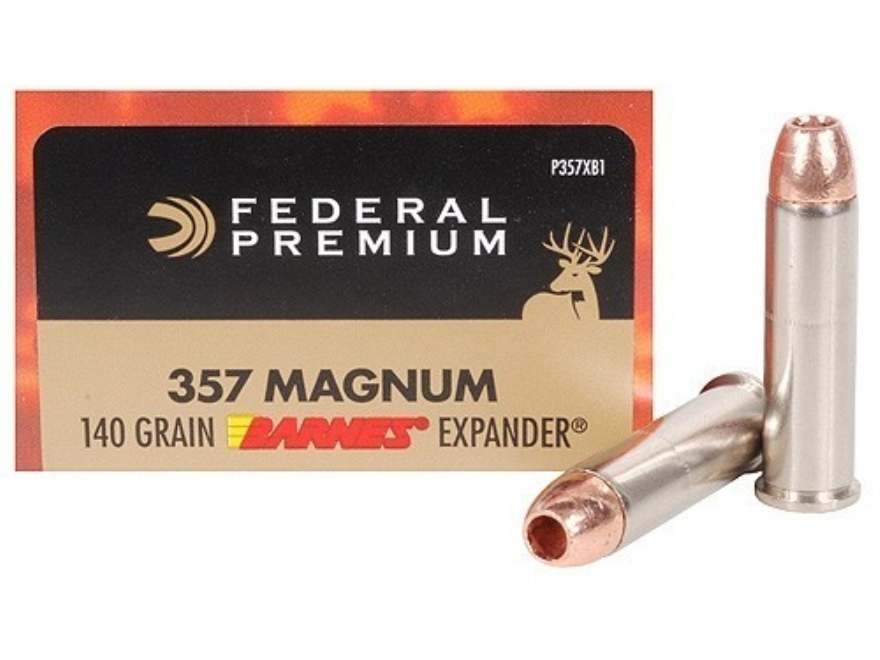 Federal Premium Vital-Shok Ammunition 357 Magnum 140 Grain Barnes XPB Hollow Point Lead...