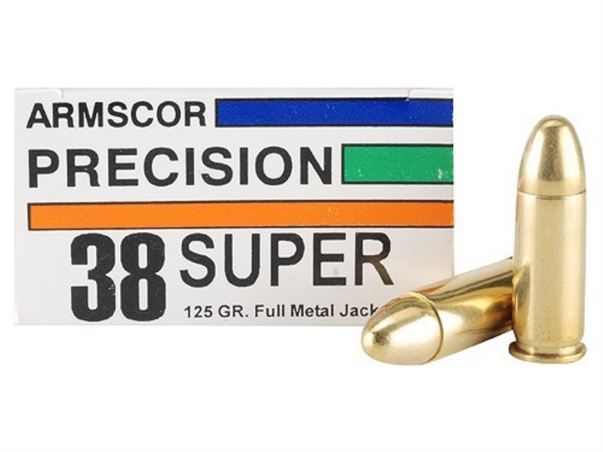 Armscor Ammunition 38 Super 125 Grain Full Metal Jacket Box of 50
