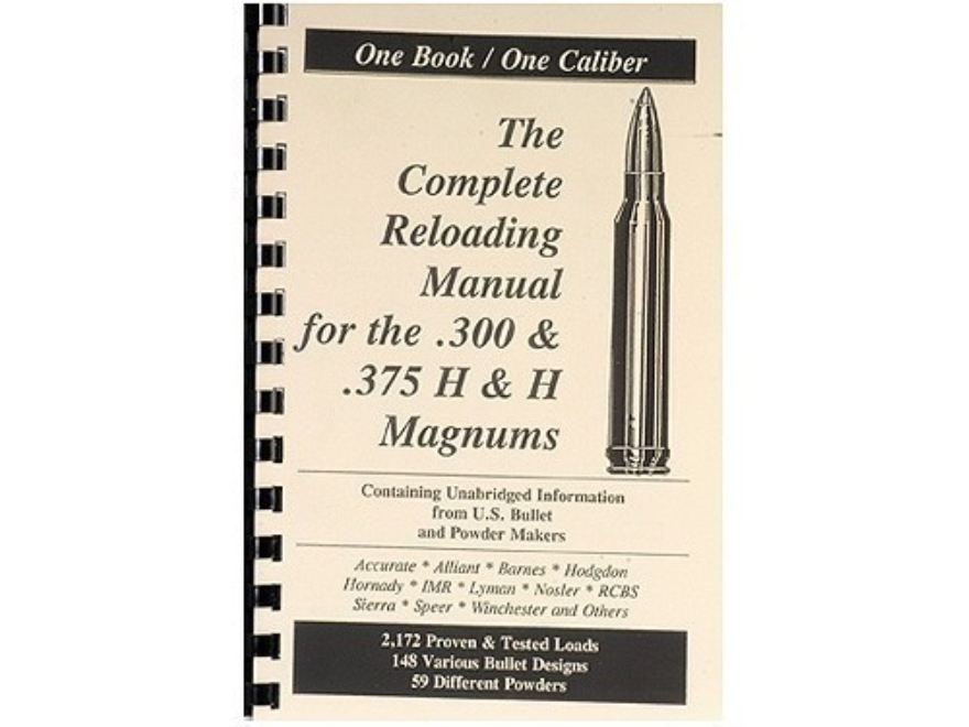 "Loadbooks USA ""300 and 375 H&H Magnum"" Reloading Manual"