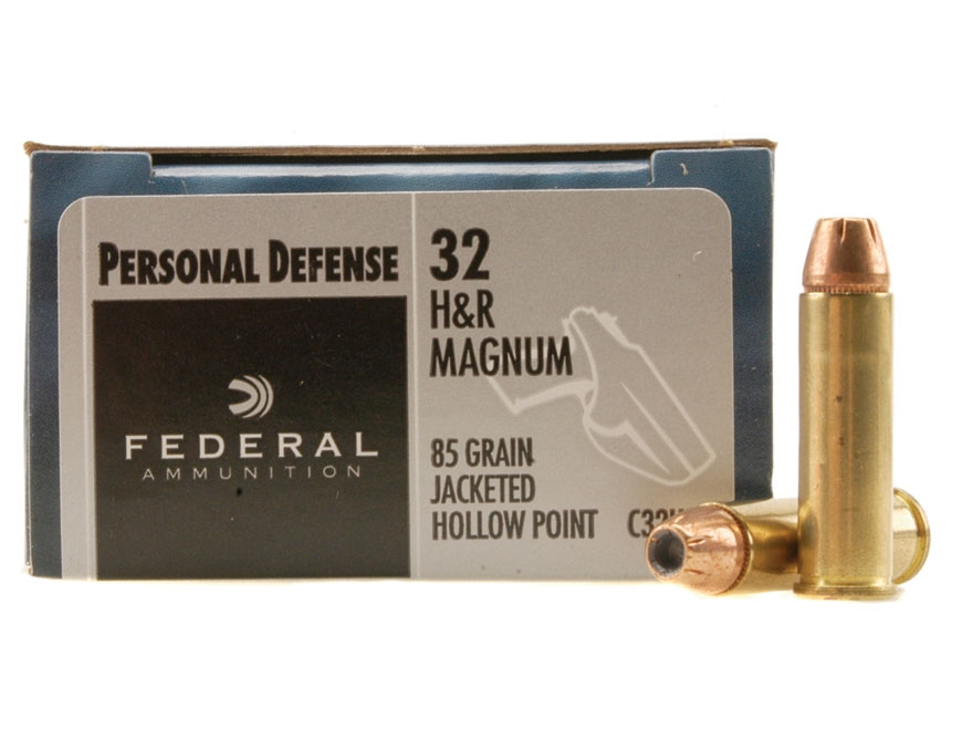 Federal Premium Personal Defense Ammunition 32 H&R Magnum 85 Grain Jacketed Hollow Poin...