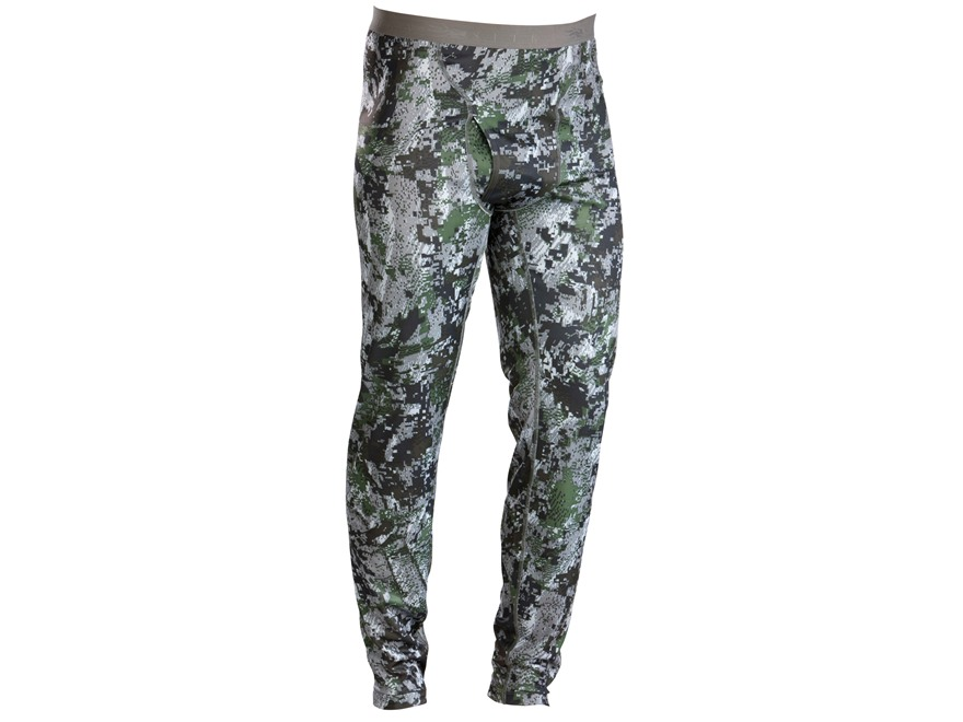Sitka Gear Men's Merino Base Layer Pants Polyester Gore Optifade Elevated Forest Camo L...