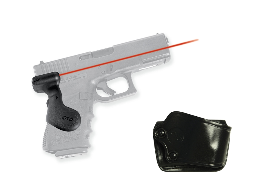 Crimson Trace Lasergrips Glock Gen-3 19, 23, 25, 32, 38 Rear Activation Polymer Black w...