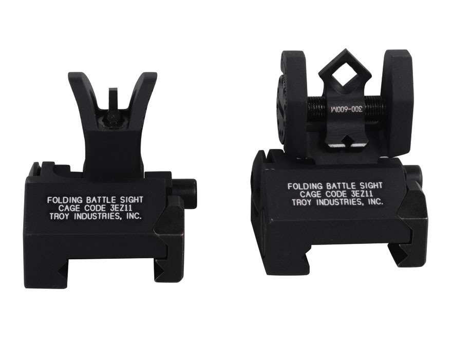 Troy Industries Micro Flip-Up Battle Sight Set M4-Style Front and Di-Optic Aperture (DO...